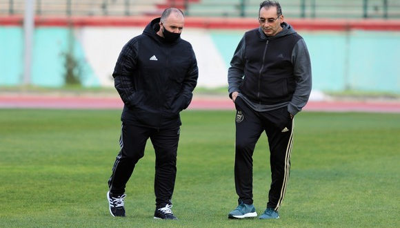 <span style='text-decoration: underline;'>Qualification CAN-2021</span>:<br><span style='color:red;'>Belmadi inspecte le stade Tchaker de Blida</span>